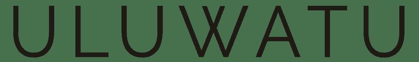 Logo uluwatu house typographique